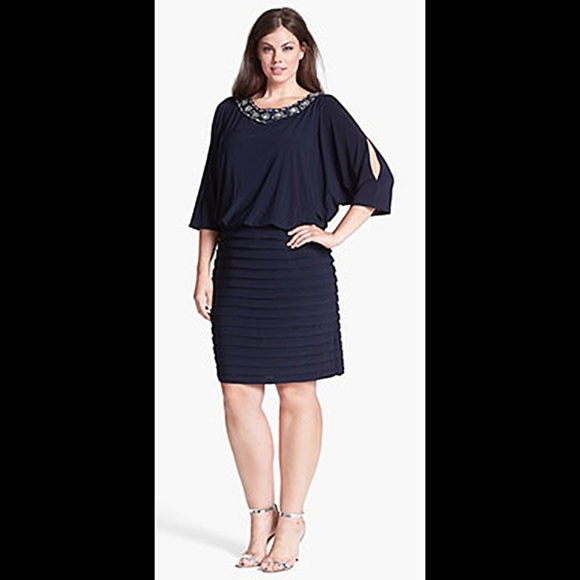 e192895e4ac Xscape Embellished Plus Size Cocktail Party Dress